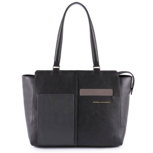 Shopping-bag-piquadro-nera